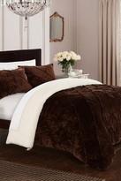 Aurelia Pinch Pleated Ruffle & Pintuck Fleece Lined 7-Piece Bed In a Bag Comforter Set - Brown