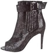 Just Cavalli Metallic Peep-Toe Booties