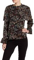 Lucca Couture Aliyah Floral Popover Blouse