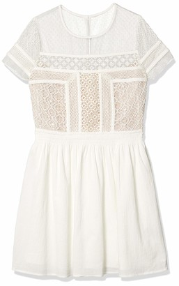 Ark & Co Women's Lace Placement Fit and Flare Dress