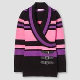 Say What Girls' Striped Belted Sweater