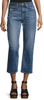 Rag & Bone Marilyn High-Rise Cropped Straight-Leg Jeans, Wheeler