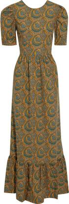 Baum und Pferdgarten Aerin Gathered Printed Cotton-poplin Maxi Dress