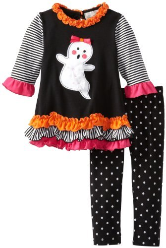 Rare Editions Girls 2-6X Ghost Applique Legging Set