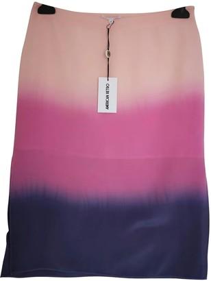 American Retro Pink Silk Skirt for Women