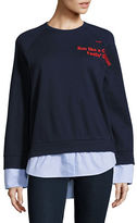 Mo & Co Striped Blouse Sweatshirt