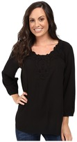 Scully Honey Creek Nicole Simple Lace Trim Top