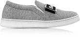 Joshua Sanders Cara Grey Fabric Slip-on Sneaker