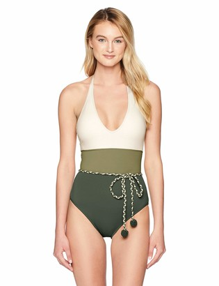 Vince Camuto Women's One Piece Swimsuit with Color Detail
