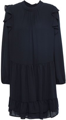 Claudie Pierlot Role Ruffled Crepe De Chine Mini Dress