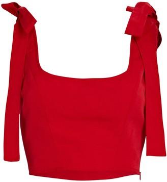 STAUD Rogan Tie-Shoulder Crop Top