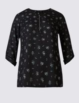 Marks and Spencer PLUS Ditsy Print Blouse