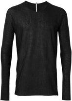 Label Under Construction arched raw edge jumper - men - Silk/Acetate/Cashmere - 50