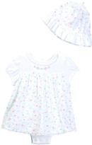 Little Me Rosebud Popover & Hat Set (Baby Girls)