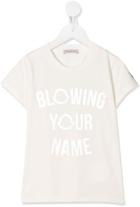 Moncler Enfant metallic print T-shirt