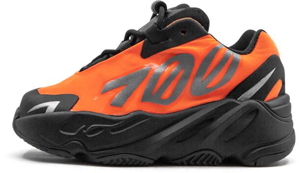 Adidas Yeezy Boost 700 MNVN Infant 'Orange' Shoes - Size 4K