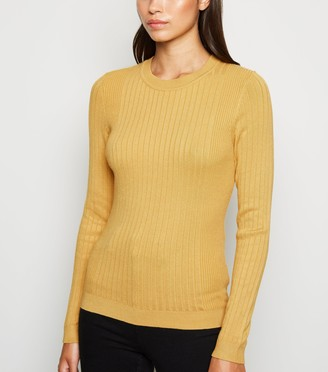 New Look Ribbed Crew Neck Jumper
