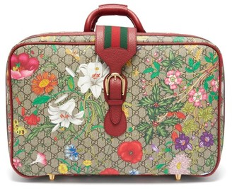Gucci GG Flora Coated-canvas And Leather Suitcase - Multi