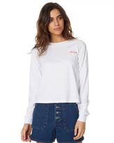 RVCA Pizza By The Slice Ls Tee White