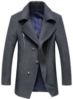 Oncefirst Men's Trench Coat Winter Long Jacket Overcoat 40-42
