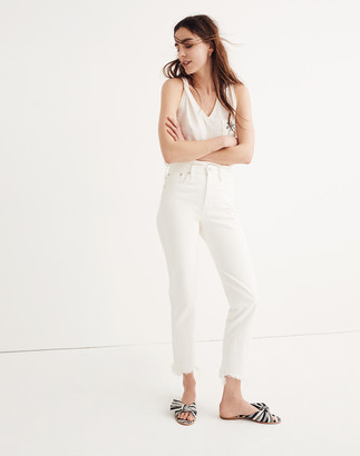 Madewell The Petite Perfect Summer Jean in Tile White: Destructed-Hem Edition