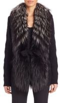 Carolina Herrera Fur, Wool & Cashmere Cardigan