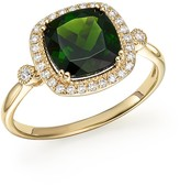 Bloomingdale's Chrome Diopside and Diamond Halo Ring in 14K Yellow Gold - 100% Exclusive