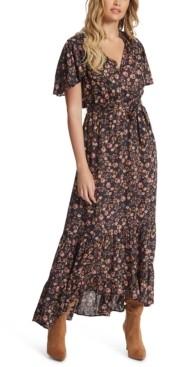 Jessica Simpson Lynne Floral-Print Belted Dress