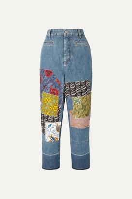 Loewe Paula's Ibiza Cropped Patchwork Boyfriend Jeans - Indigo
