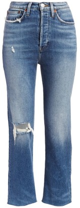 RE/DONE Comfort Stretch Ultra High-Rise Stovepipe Jeans