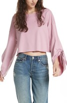 Free People Women's Holala Statement Sleeve Crop Sweatshirt