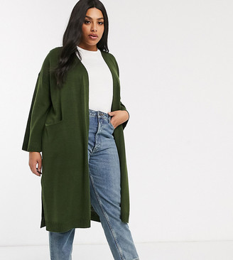 M Lounge Curve Micha Lounge Curve longline cardigan with drape lapel