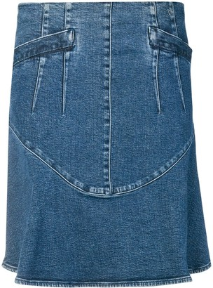 Chanel Pre Owned 2006's A-line denim skirt