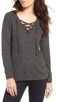 Velvet by Graham & Spencer Women's Cozy Lace-Up Top