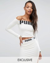 Puma Exclusive To ASOS Off The Shoulder Logo Top