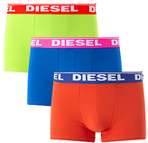 Diesel Shawn Two Colour Boxer Trunks, Pack Of 3, Yellow/blue/orange