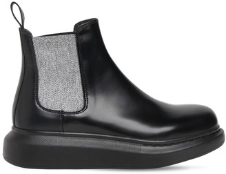 Alexander McQueen 45mm Hybrid Leather Chelsea Boots