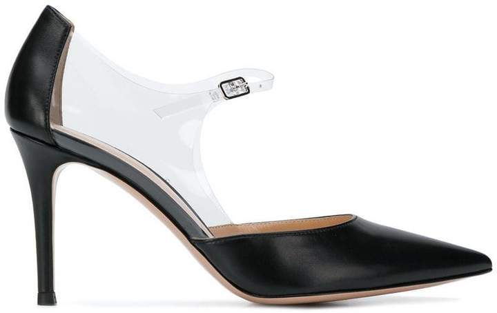Gianvito Rossi clear strap pointed pumps