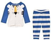 Joules Blue Tiger Applique Top and Bottoms Sets
