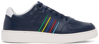 Paul Smith Navy Striped Saturn Sneakers