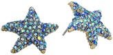 Betsey Johnson Pave Starfish Stud Earrings Earring