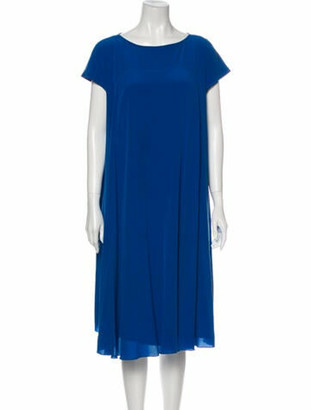 Hermes Vintage Midi Length Dress Blue