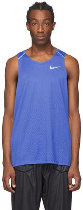 Nike Blue Rise 365 Tank Top