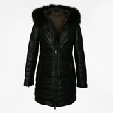 Oakwood Mary Luxe Black Leather Long Line Quilted Jacket