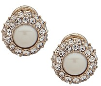 Ralph Lauren Ralph Pave & Simulated Pearl Clip-On Earrings