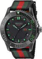 Gucci Men's watch R. TIMELESS XL SPORT NEGRE/VERD YA126229