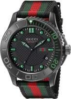 Gucci R. TIMELESS XL SPORT NEGRE/VERD Men's watches YA126229