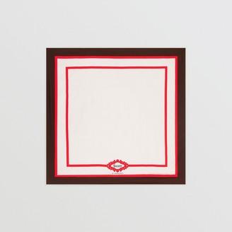 Burberry Archive Society Print Silk Square Scarf