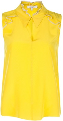 Dorothee Schumacher Silk Sleeveless Ruffle Blouse