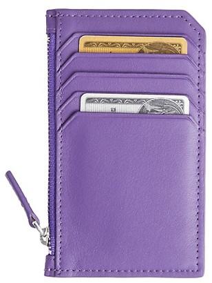 Royce New York Leather Zip Card Case